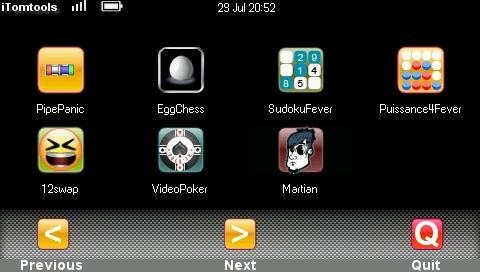 Page des jeux
